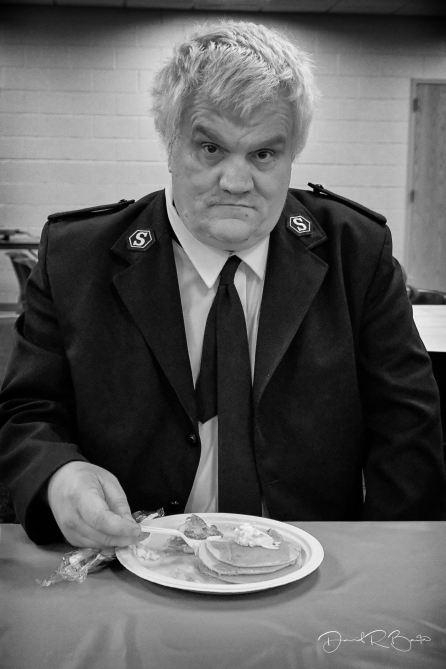 Salvation Army man, Big Rapids, Michigan