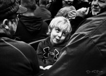 Boy at football game, Detroit, Michigan